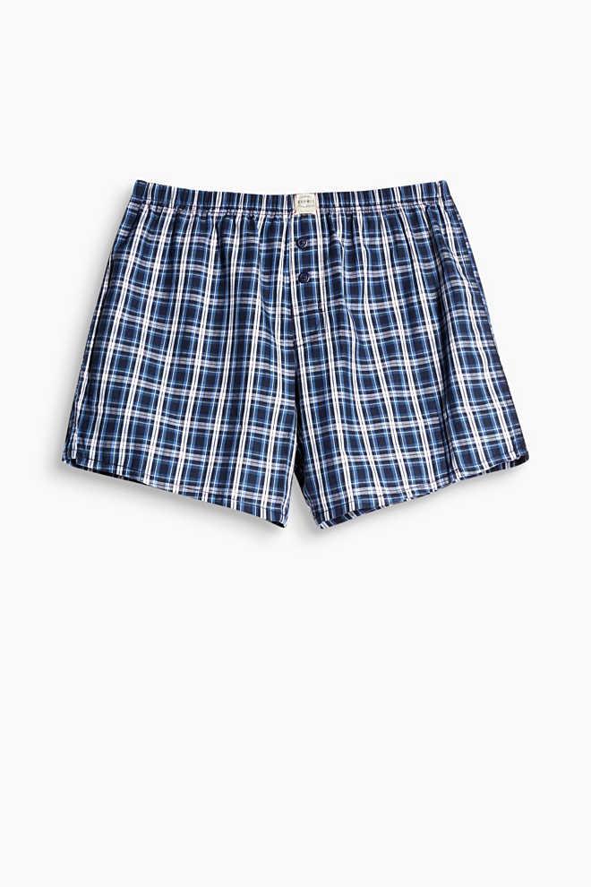 Karierte Boxer-Shorts, 100% Baumwolle