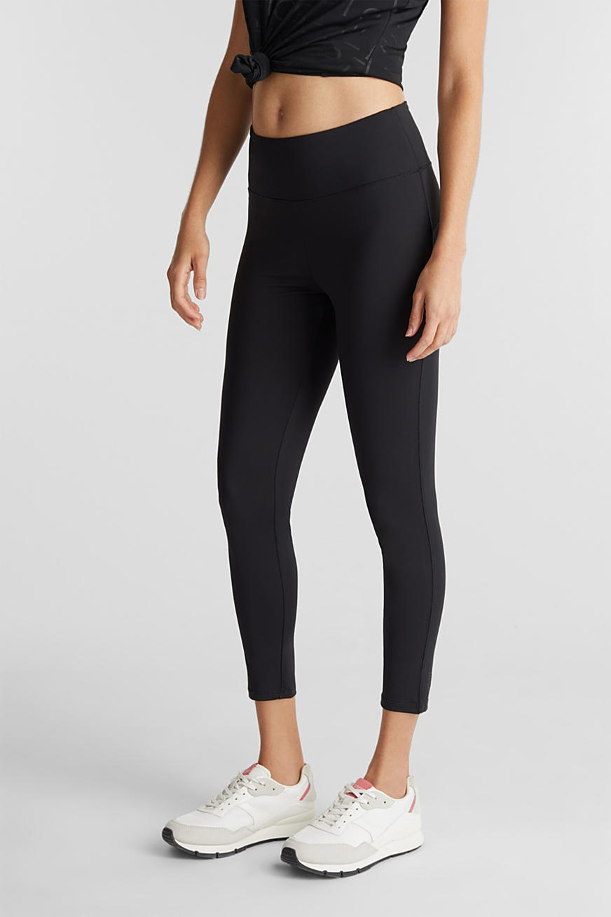 Active leggings med logo, E-DRY