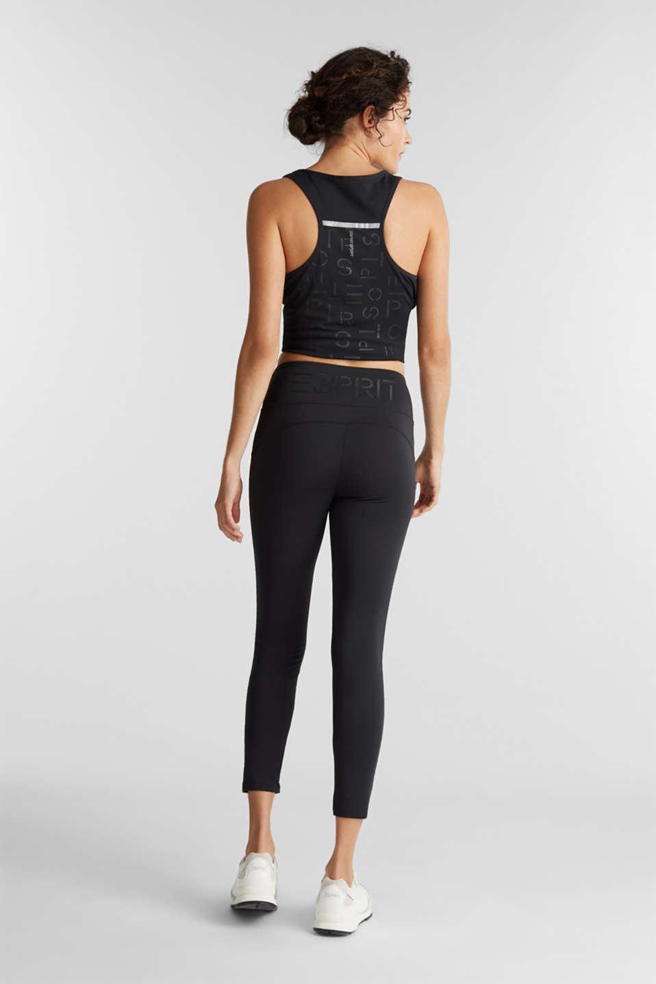 Active logo waistband leggings, E-DRY, BLACK, detail image number 3