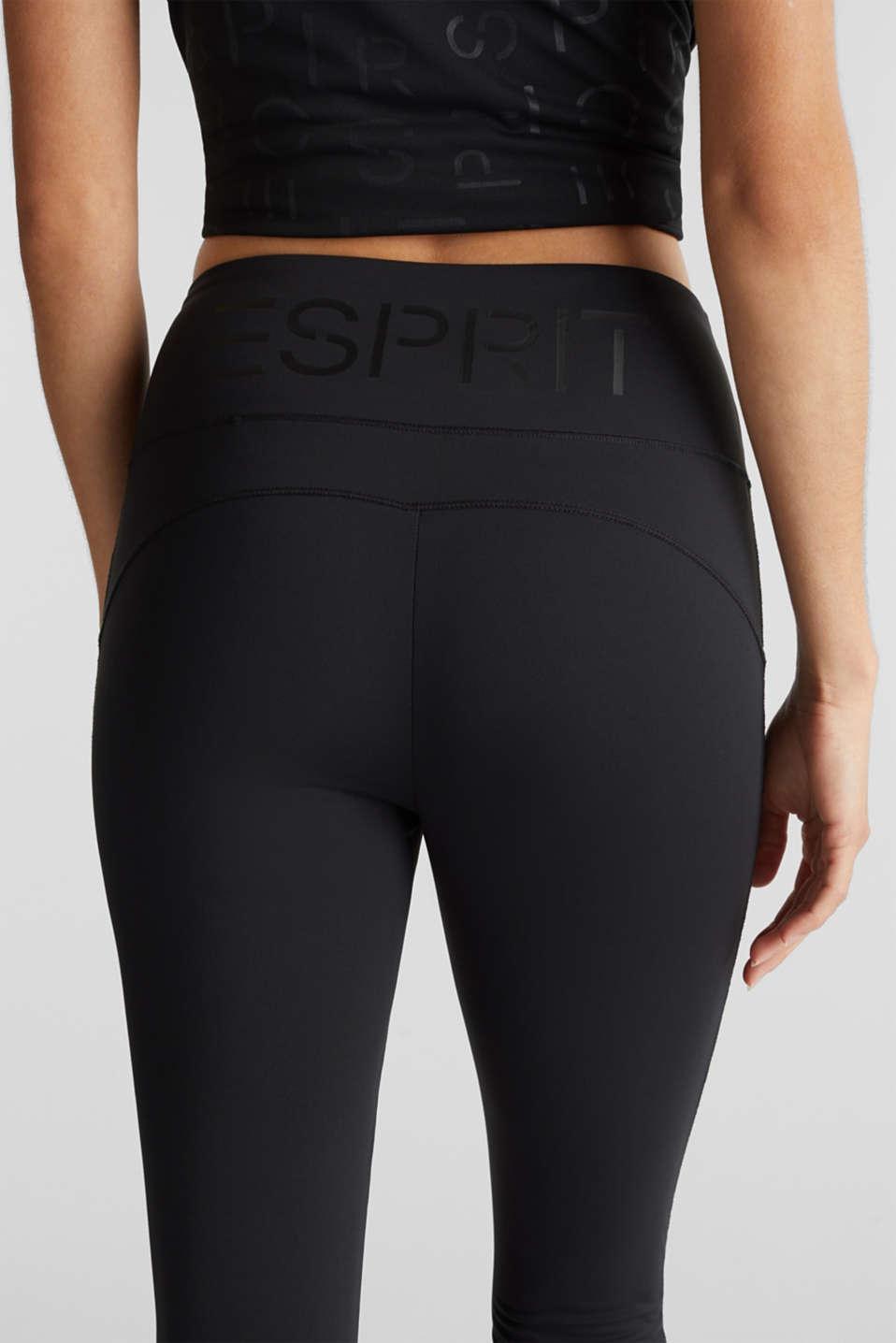 Active logo waistband leggings, E-DRY, BLACK, detail image number 2