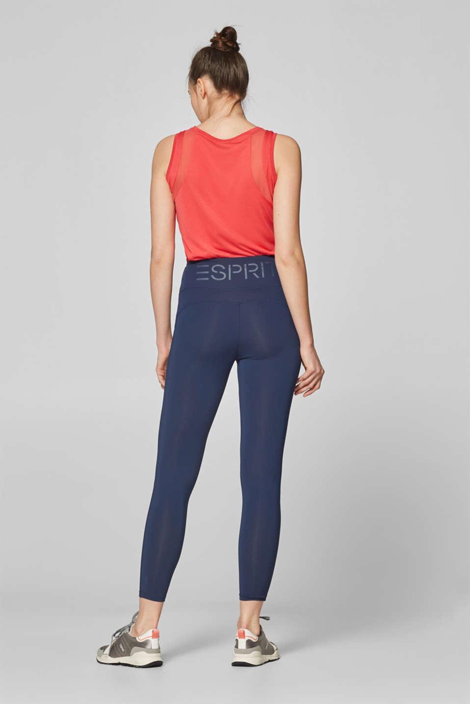 Active logo waistband leggings, E-DRY