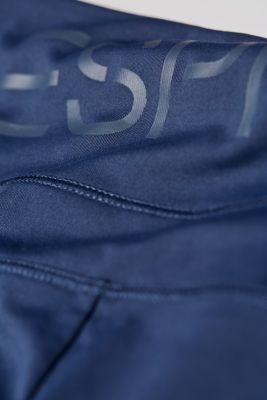 Active logo waistband leggings, E-DRY, NAVY, detail