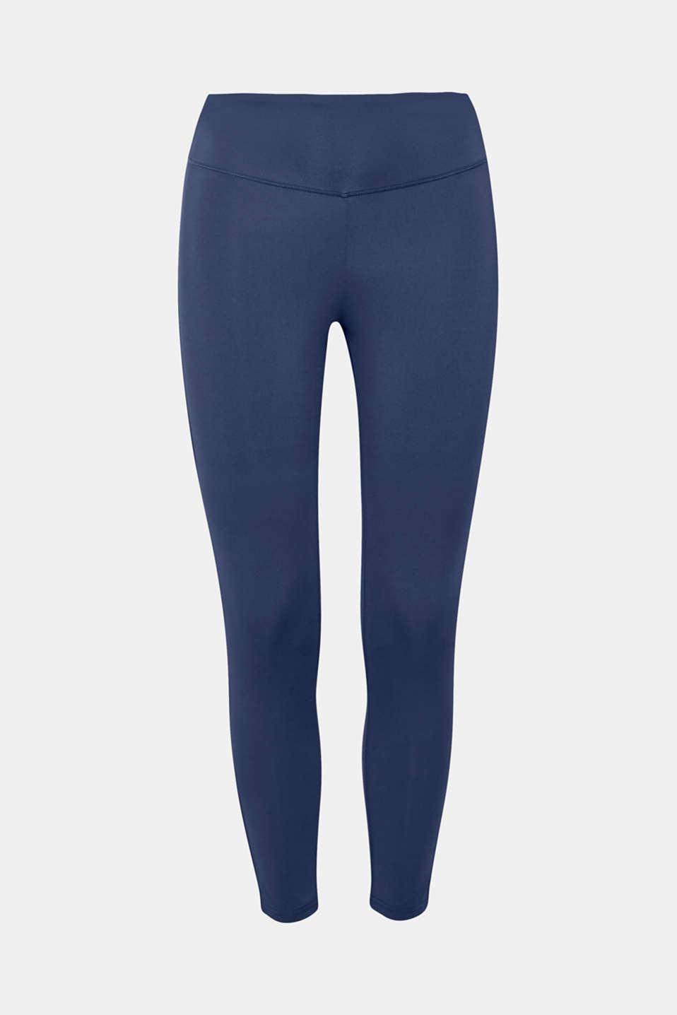 Active logo waistband leggings, E-DRY, NAVY, detail image number 4