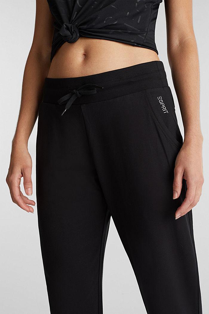 Jerseyhousut, joissa leveä kuminauhavyötärö, BLACK, detail image number 2