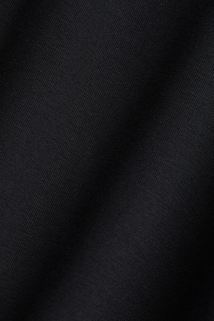 Jerseyhousut, joissa leveä kuminauhavyötärö, BLACK, detail image number 4