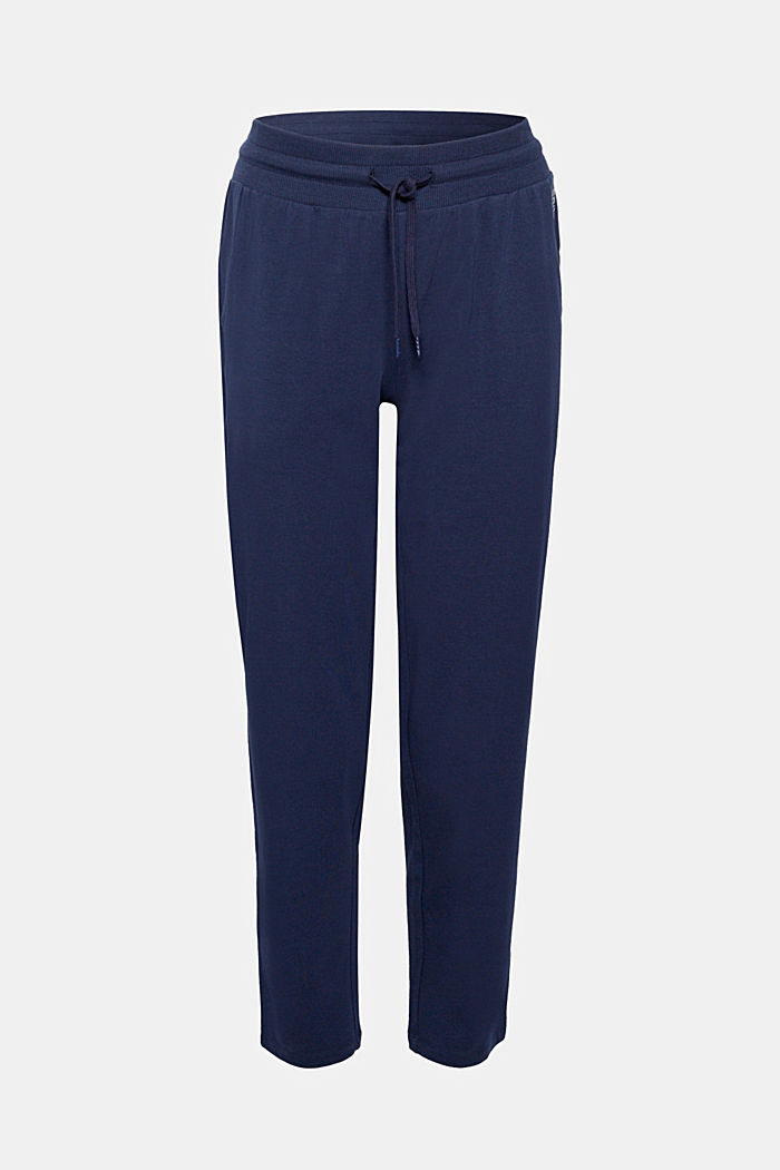 Jersey trousers with a wide elasticated waistband, NAVY, detail image number 0