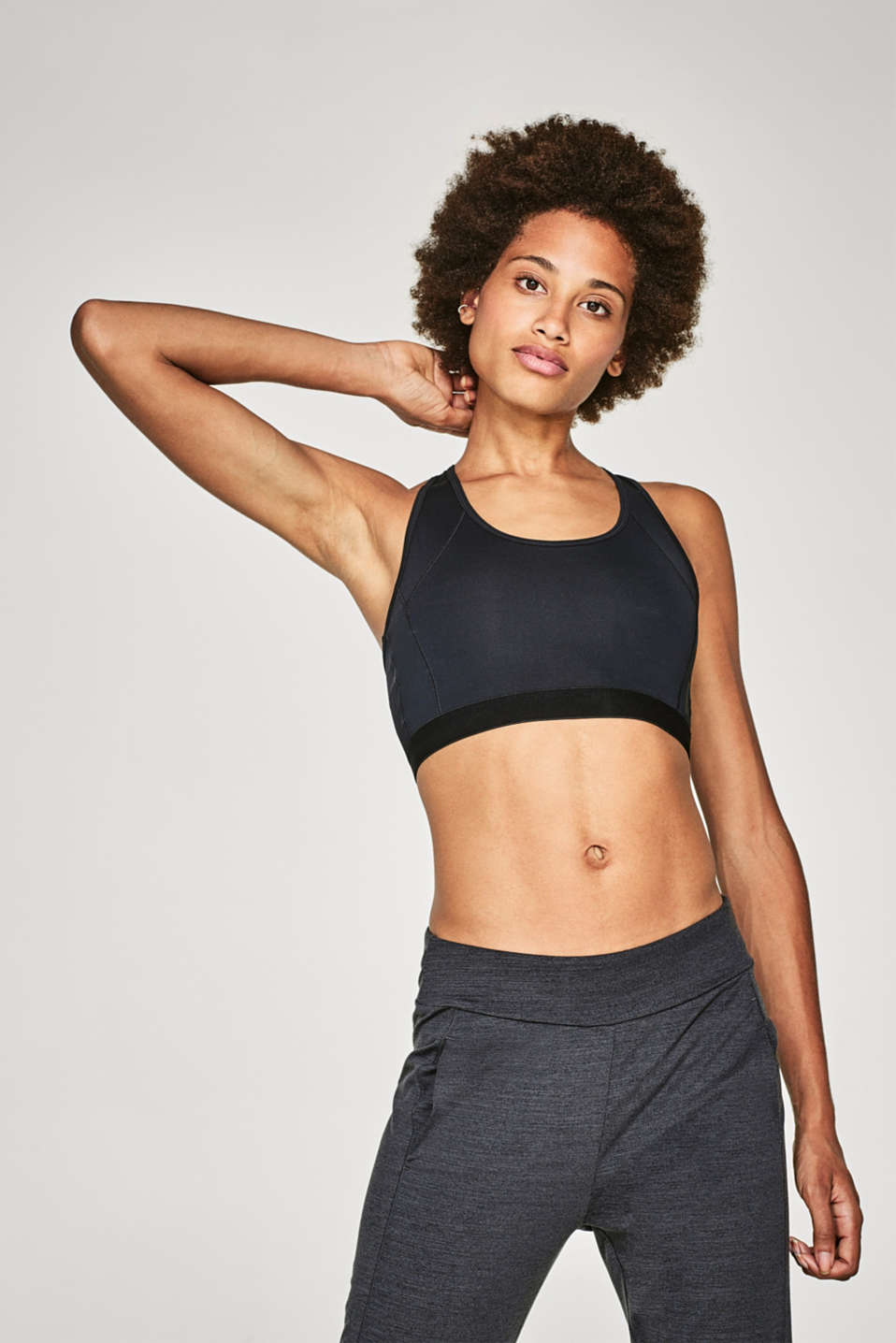Esprit - Sports bra with a mesh racer back, E-DRY