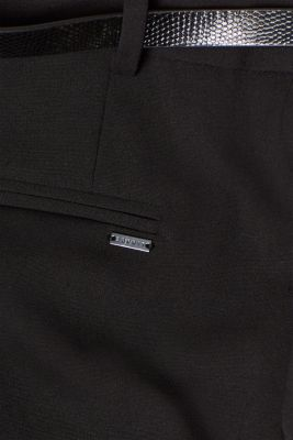 Business stretch trousers with a straight leg