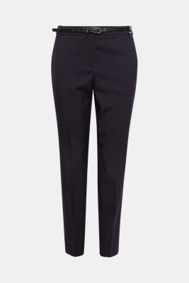 Stretch trousers in a business look, BLACK, detail