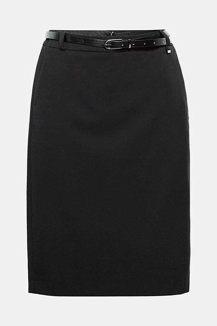 Pencil skirt with a belt + stretch for comfort