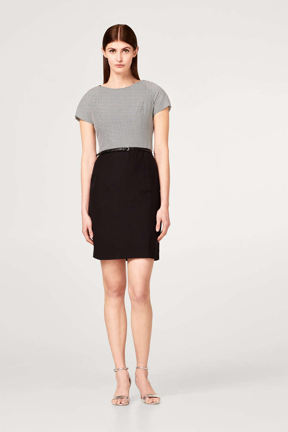 Super stretchy sheath dress with a belt