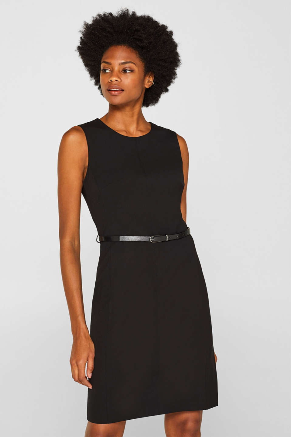 Esprit - Business sheath dress with stretch