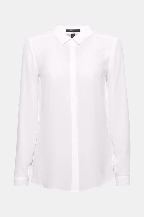 Classic shirt blouse with stretch for comfort