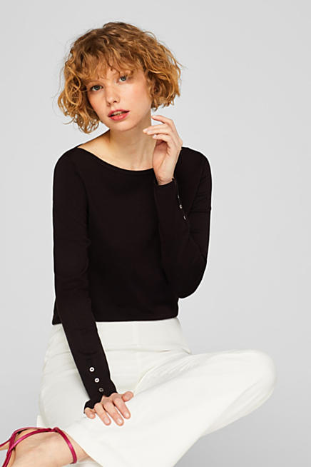 60c810deb4c Fine knit jumper with stretch for comfort