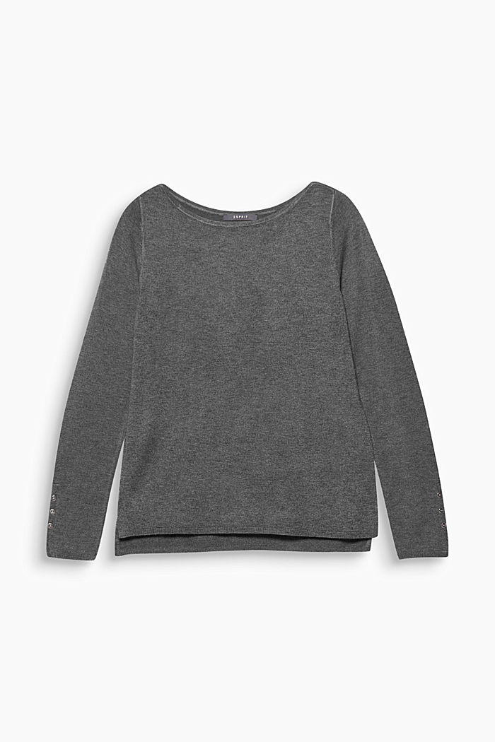 Fine knit jumper with stretch for comfort