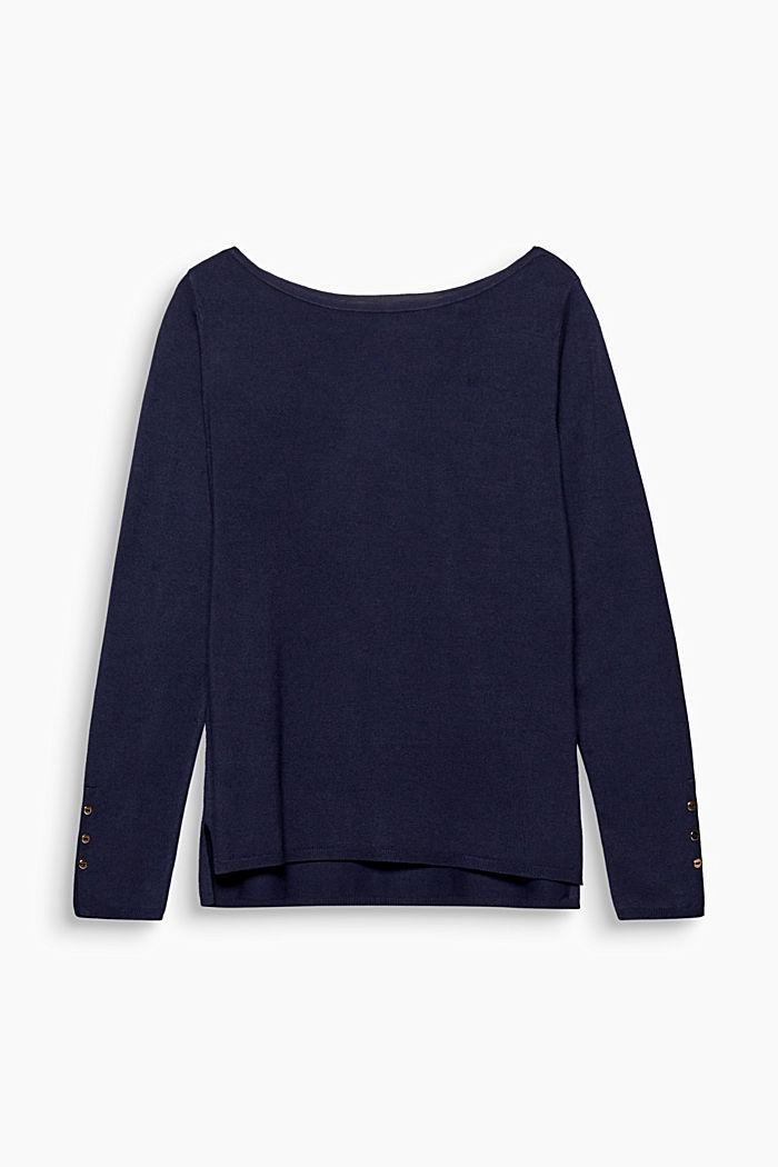 Feinstrick-Sweater mit Stretchkomfort, NAVY, detail image number 0