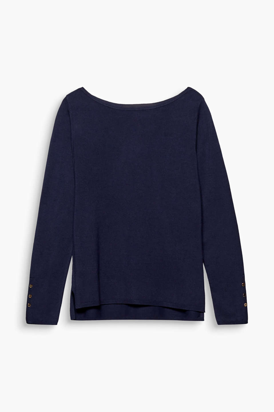 Sweaters, NAVY, detail image number 0