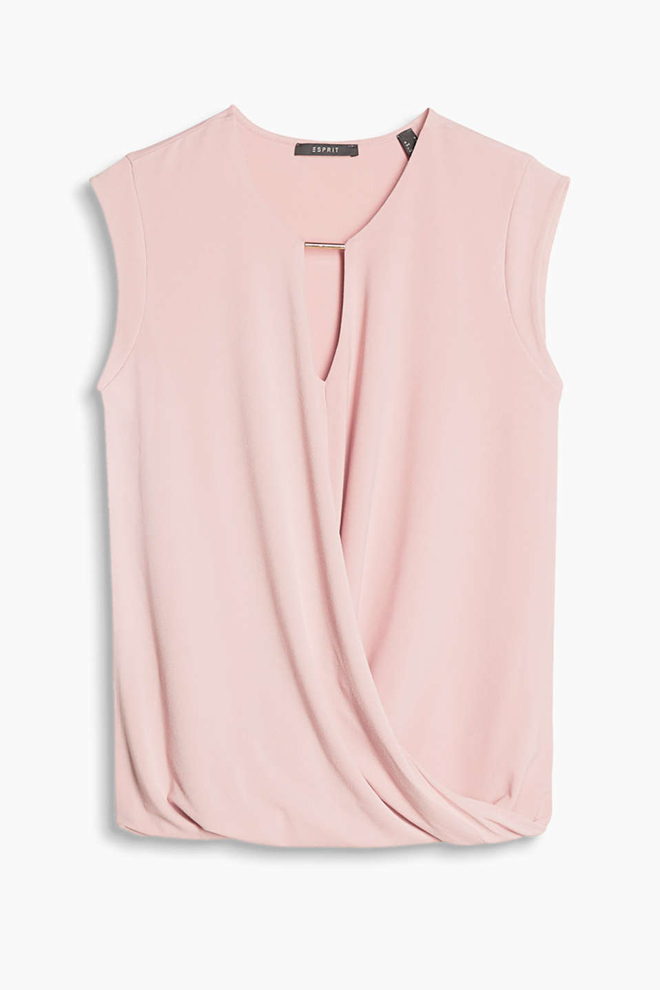 Esprit - Flowing wrap-over effect T-shirt