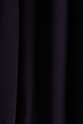 Flowing stretch jersey cardigan, NAVY, detail