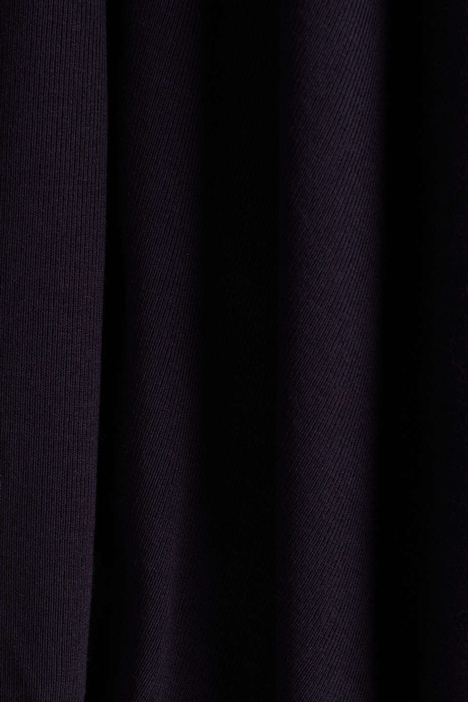 Flowing stretch jersey cardigan, NAVY, detail image number 4