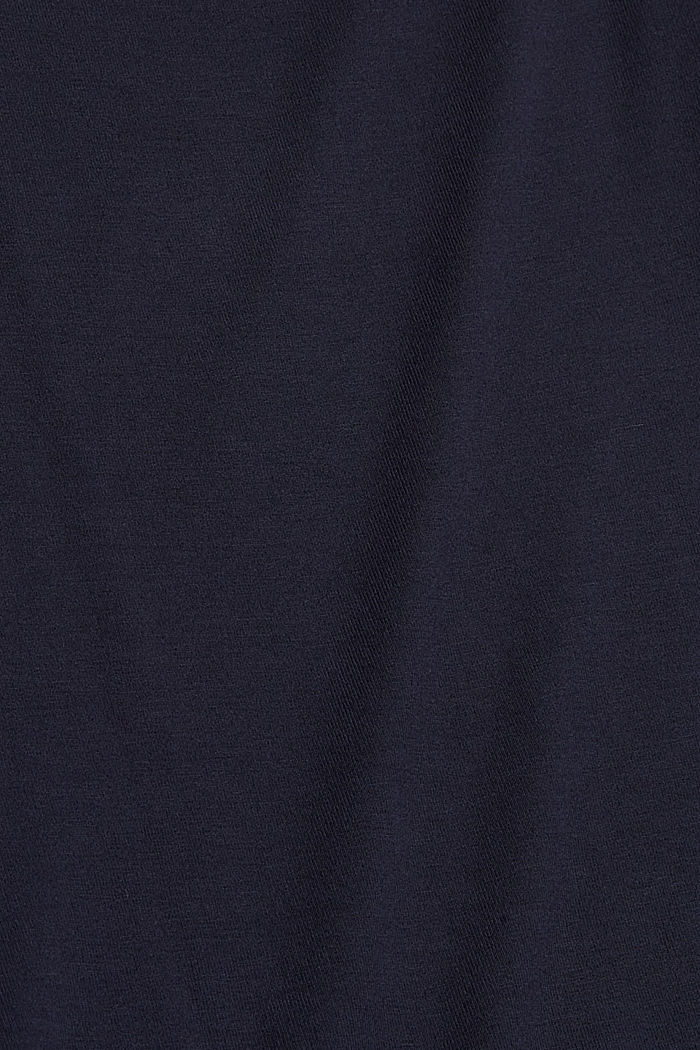 Stretch top with satin trim, NAVY, detail image number 4
