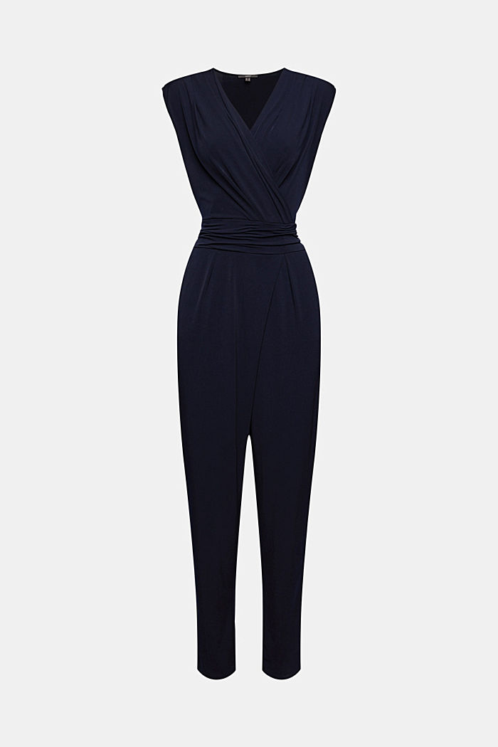 Wickel-Jumpsuit aus Jersey-Stretch