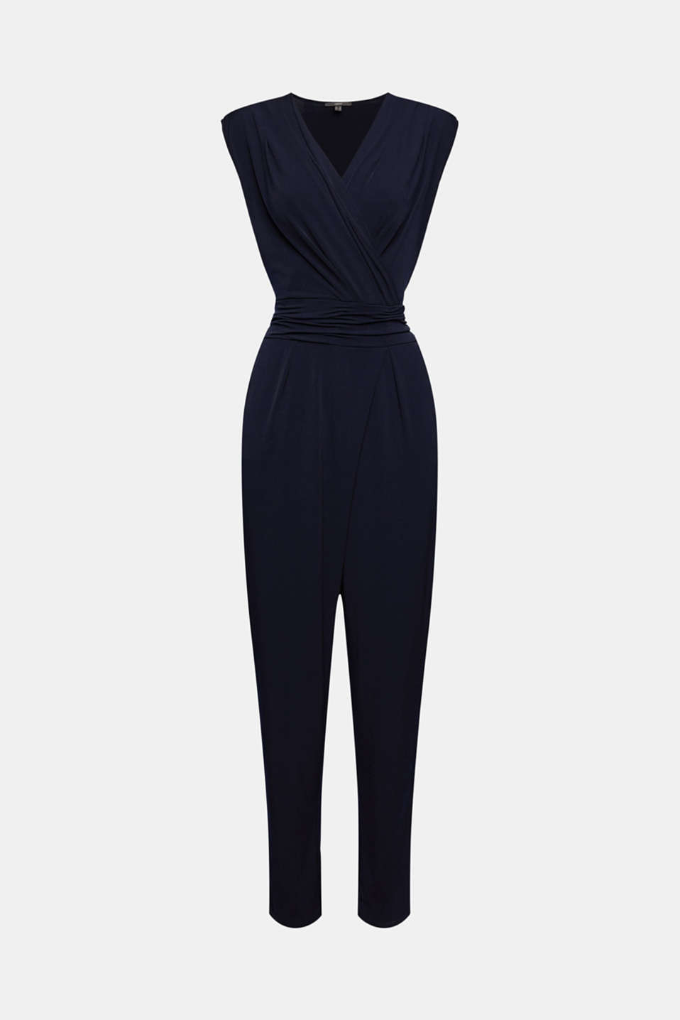Wrap jumpsuit made of stretch jersey, NAVY, detail image number 5