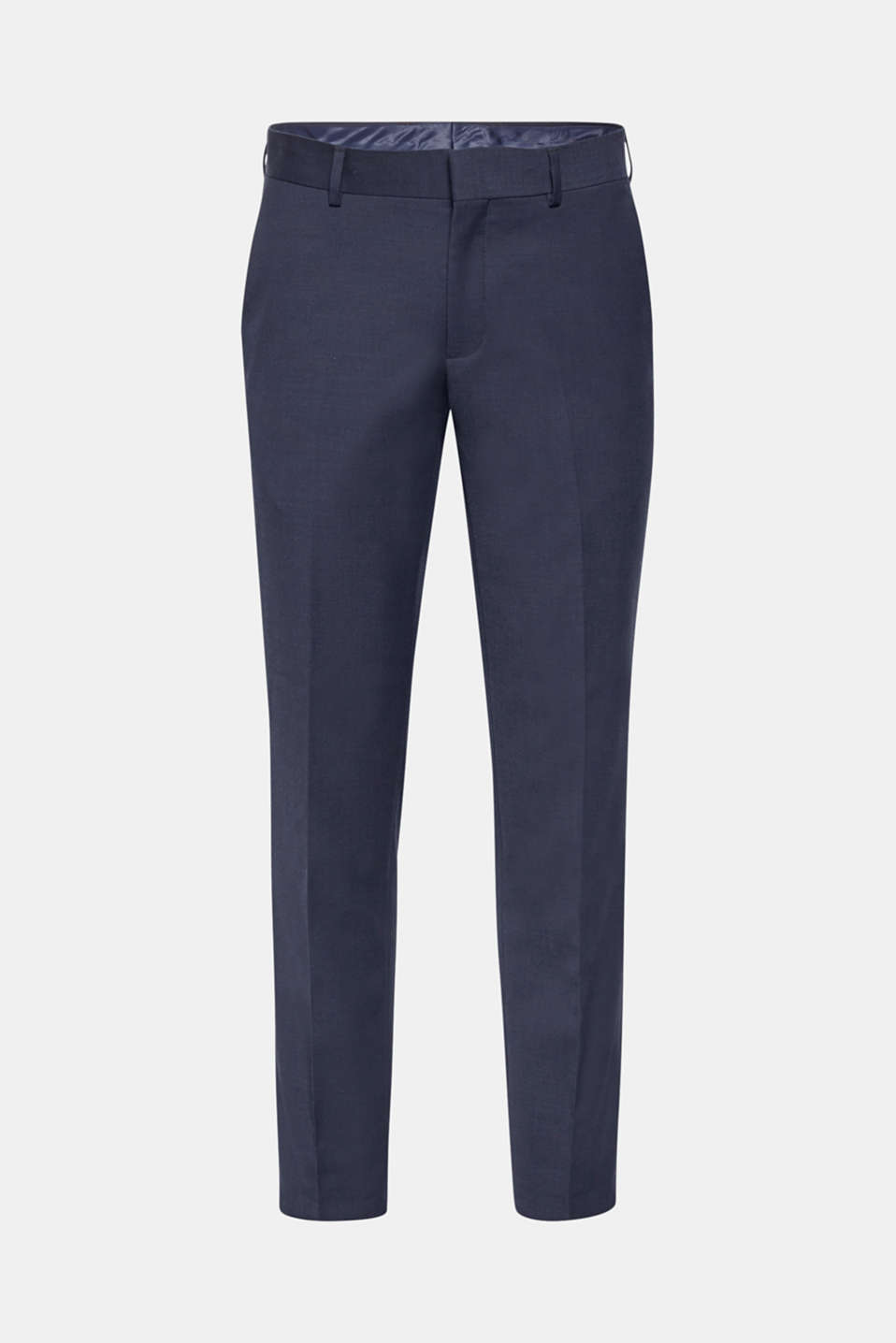 Premium suit trousers in textured cotton twill