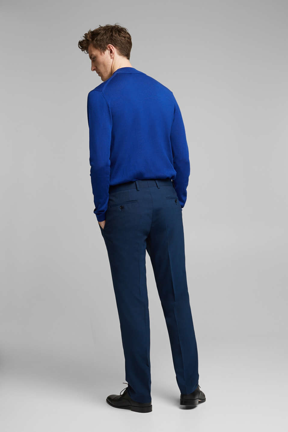 CLASSIC BLUE mix + match: suit trousers with wool, NAVY, detail image number 1