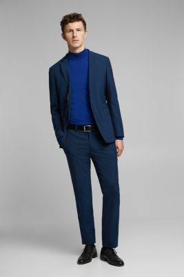 CLASSIC BLUE mix + match: suit trousers with wool, NAVY, detail