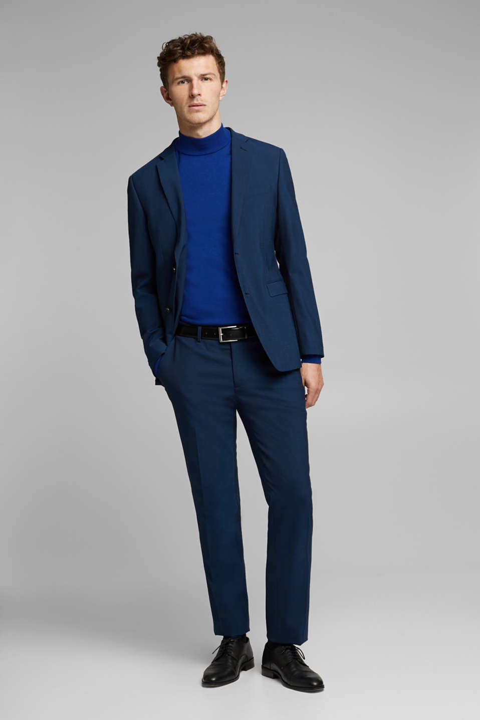 CLASSIC BLUE mix + match: suit trousers with wool, NAVY, detail image number 2