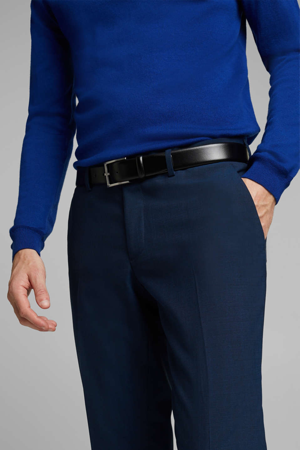 CLASSIC BLUE mix + match: suit trousers with wool, NAVY, detail image number 3