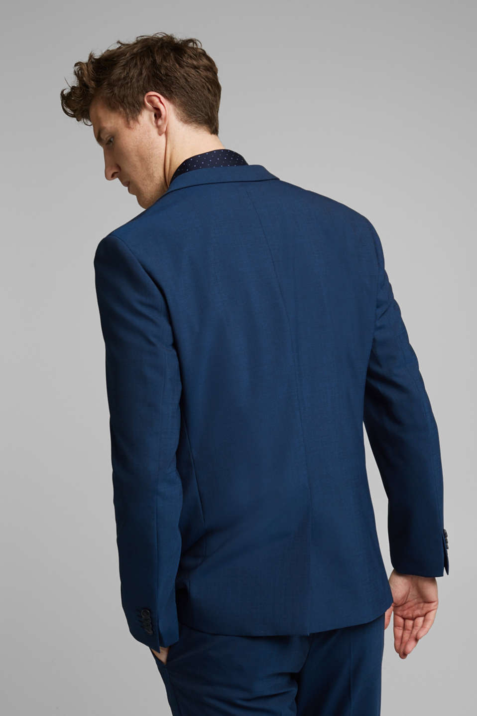 CLASSIC BLUE mix + match: Tailored jacket with wool, NAVY, detail image number 3
