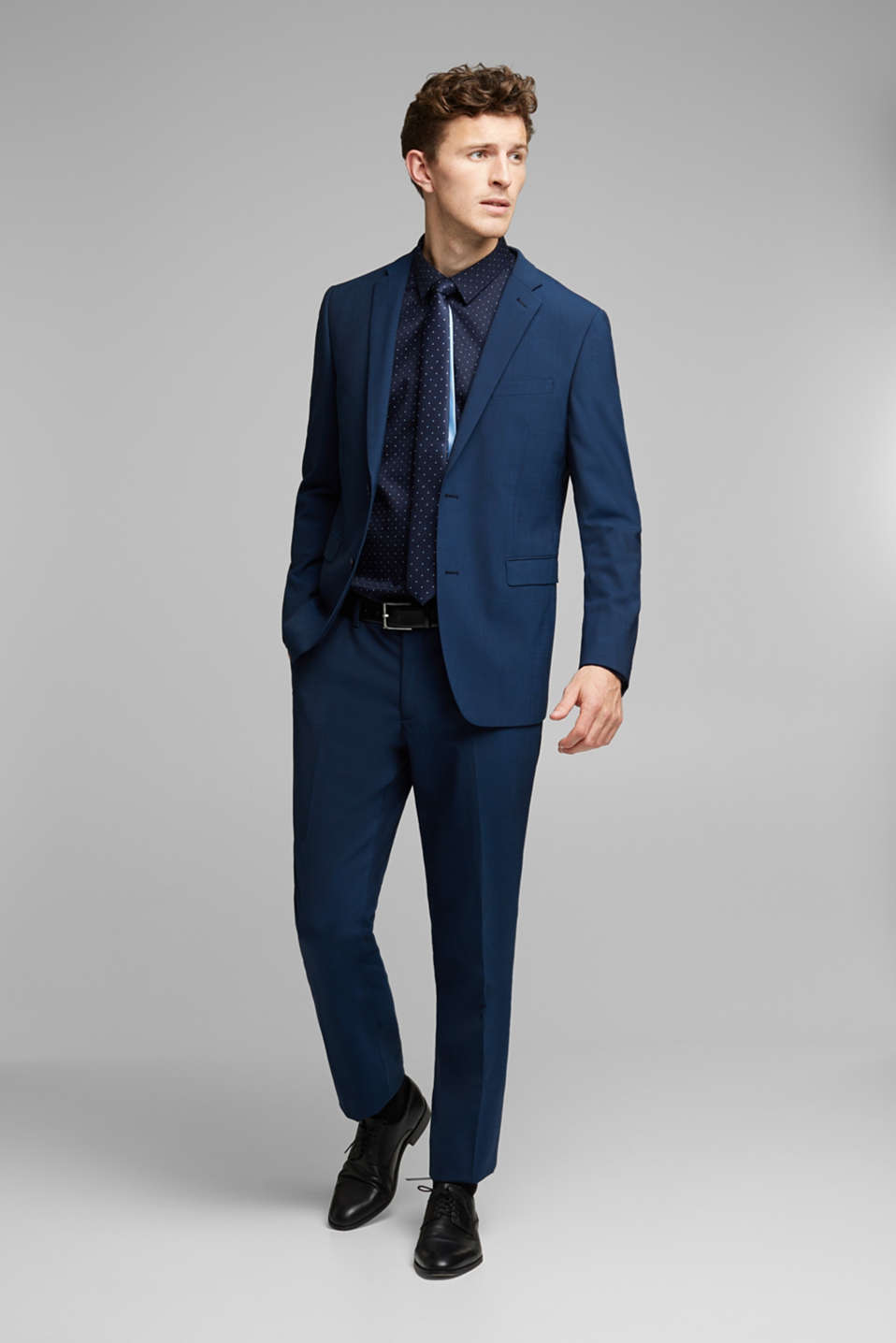 CLASSIC BLUE mix + match: Tailored jacket with wool, NAVY, detail image number 1