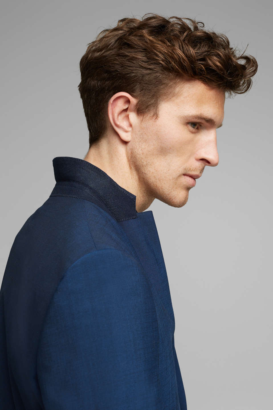 CLASSIC BLUE mix + match: Tailored jacket with wool, NAVY, detail image number 2