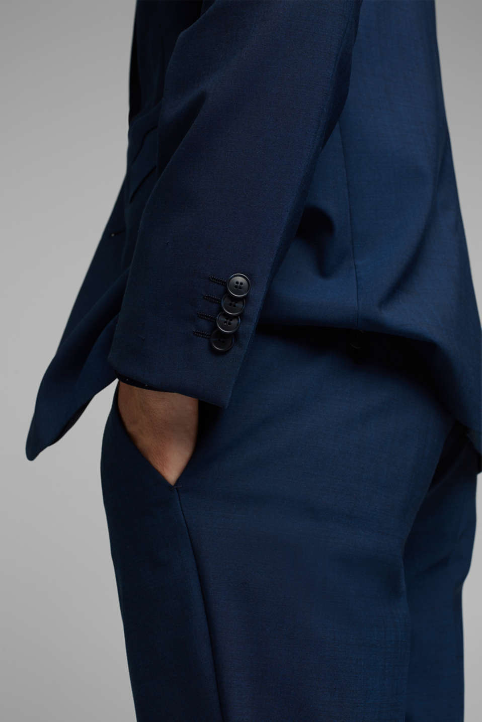 CLASSIC BLUE mix + match: Tailored jacket with wool, NAVY, detail image number 5