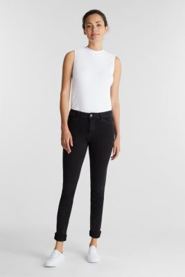 Organic cotton blend jeggings, BLACK RINSE, detail
