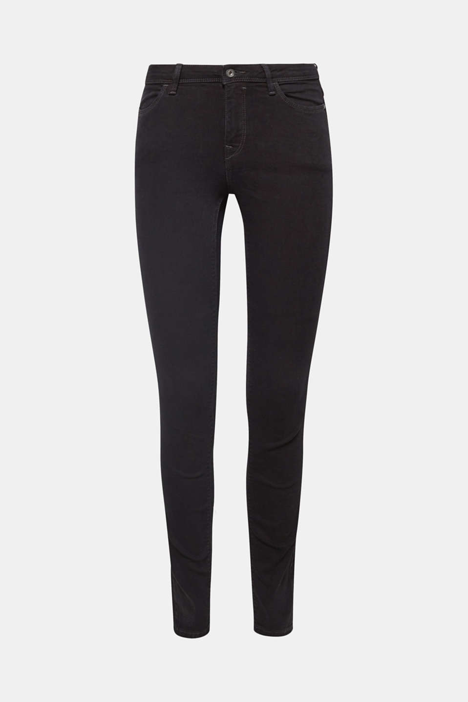 Organic cotton blend jeggings, BLACK RINSE, detail image number 5