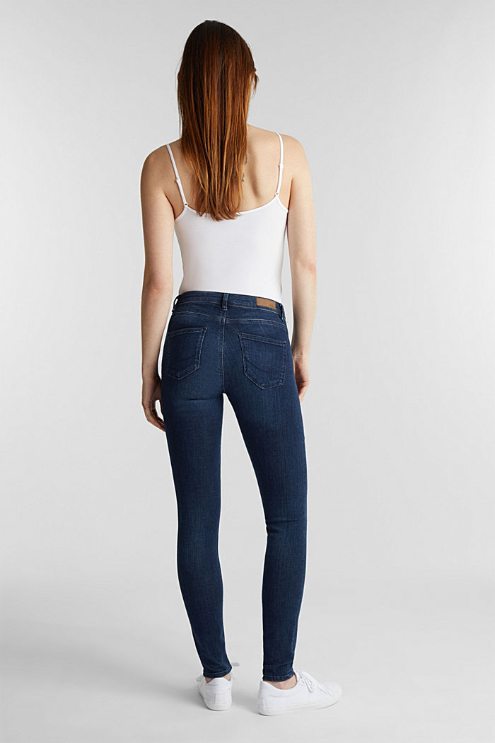 Organic cotton blend jeggings, BLUE DARK WASHED, detail image number 3