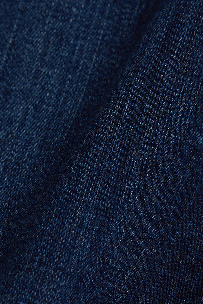 Organic cotton blend jeggings, BLUE DARK WASHED, detail image number 4