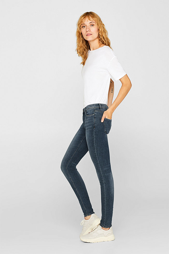 Organic cotton blend jeggings, BLUE LIGHT WASHED, overview