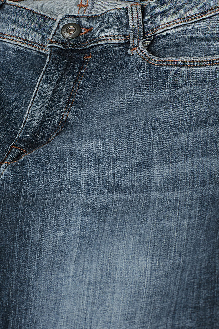 Organic cotton blend jeggings, BLUE LIGHT WASHED, detail image number 4