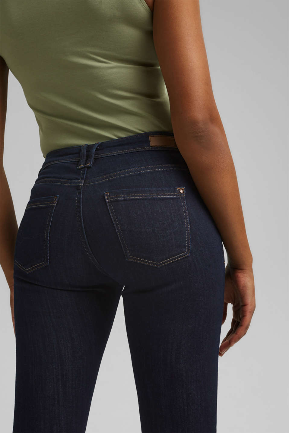 Jeans with organic cotton, BLUE RINSE, detail image number 4