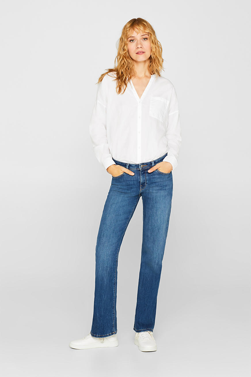 Stretchjeans met bootcut fit, gerecycled