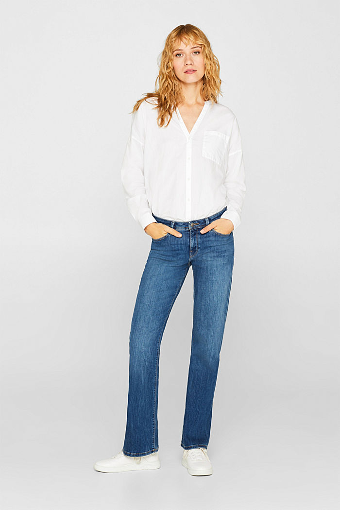 Bootcut stretch jeans, recycled