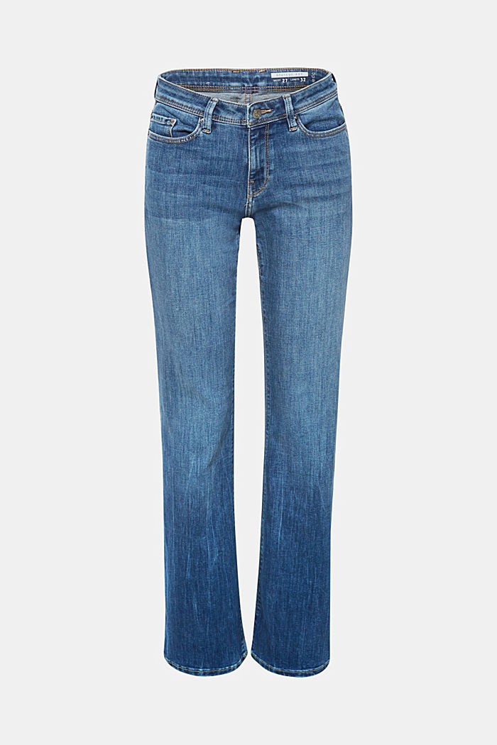 Stretch-Jeans mit Bootcut, recycelt, BLUE MEDIUM WASHED, detail image number 0