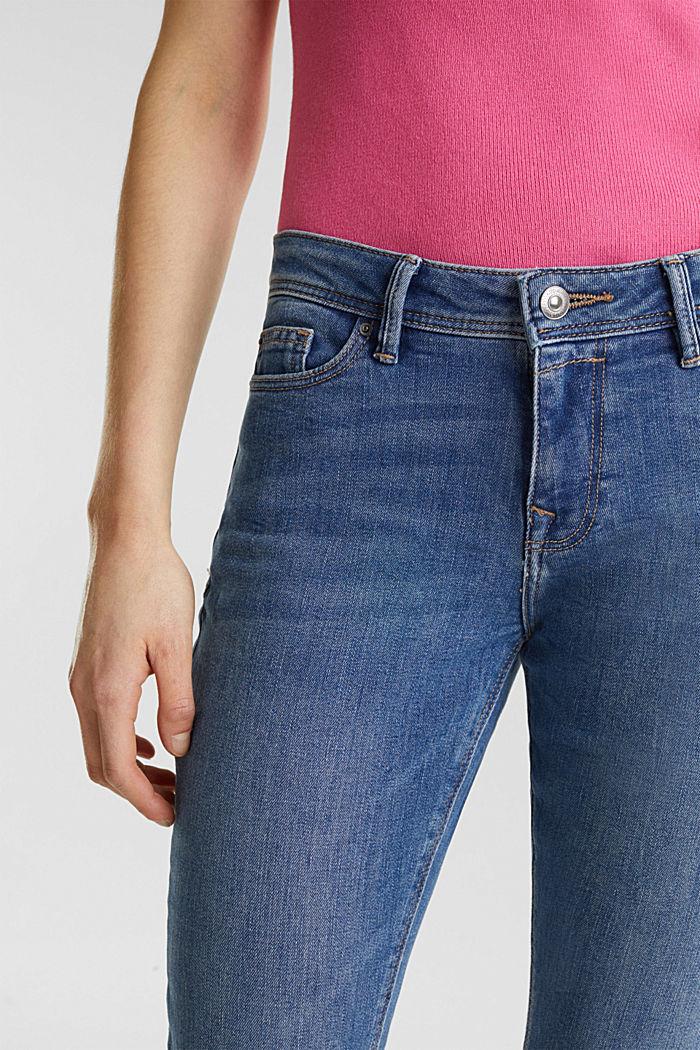 Stretch-Jeans mit Wrinkle-Effekten, recycelt, BLUE LIGHT WASHED, detail image number 2