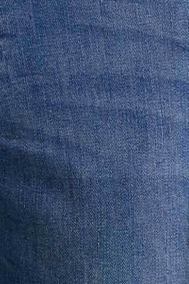 Recycled stretch jeans with whiskering, BLUE LIGHT WASH, detail