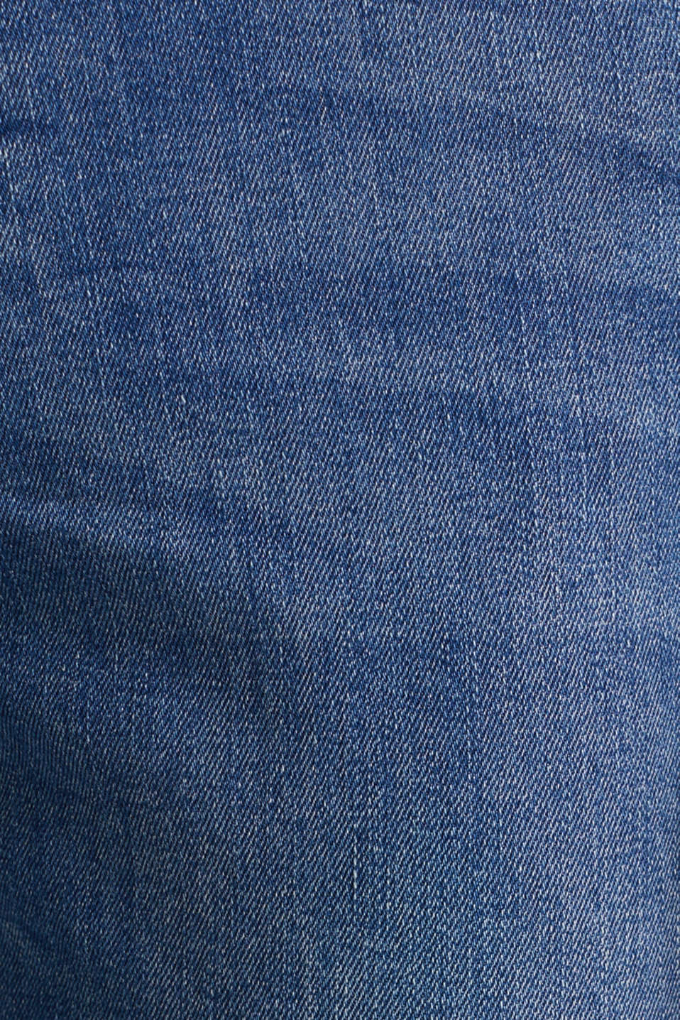 Recycled stretch jeans with whiskering, BLUE LIGHT WASH, detail image number 4