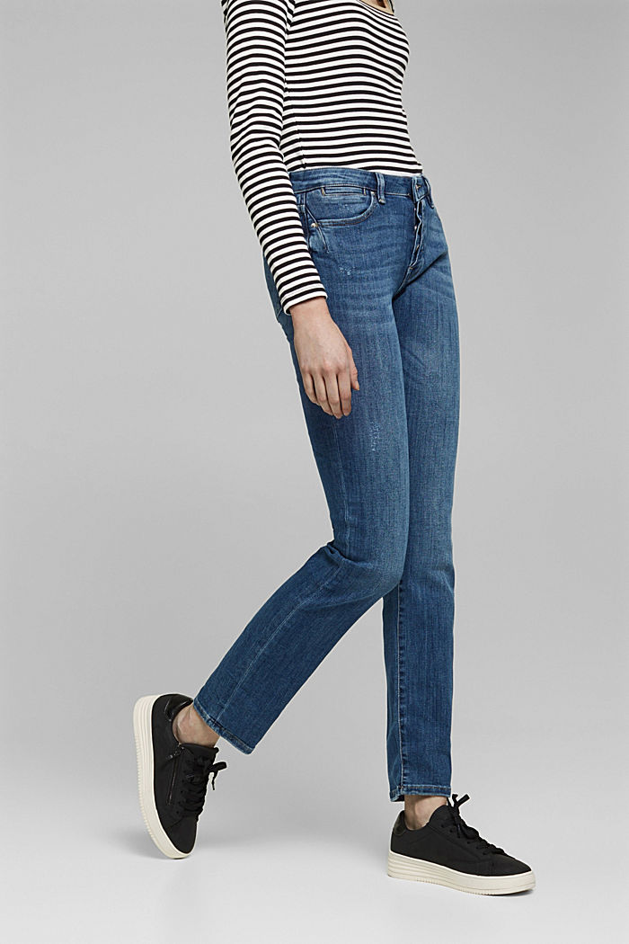 Button-fly jeans, BLUE MEDIUM WASHED, detail image number 0